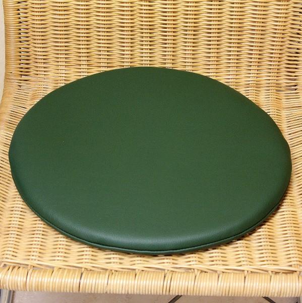 Leather seat cushion round with anti-slip