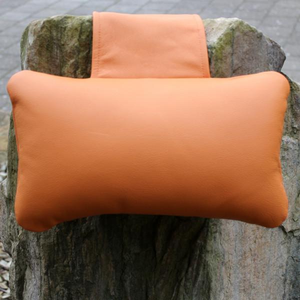 Karawunzlator - THE real leather neck pillow 35 x 20 cm unique