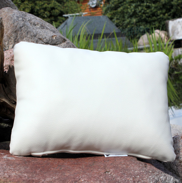 Synthetic leather cushions with filling 40 x 30 cm