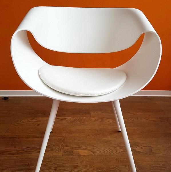 Stuhl- und Sitzkissen rund mit Antirutsch Polster