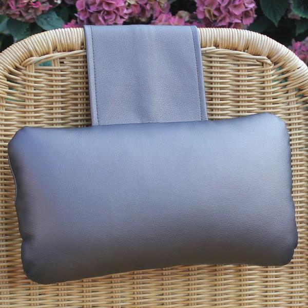 Karawunzlator - synthetic leather neck pillow metallic