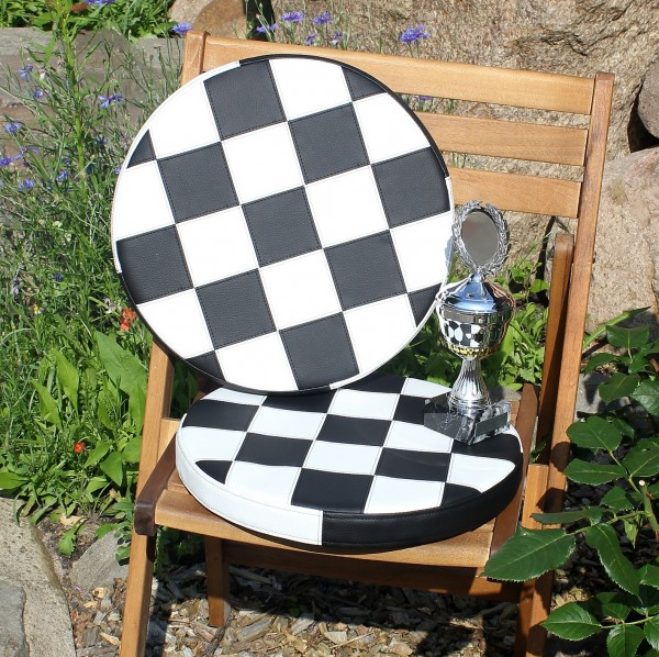Seat cushion around race flag target flag oil drum stool