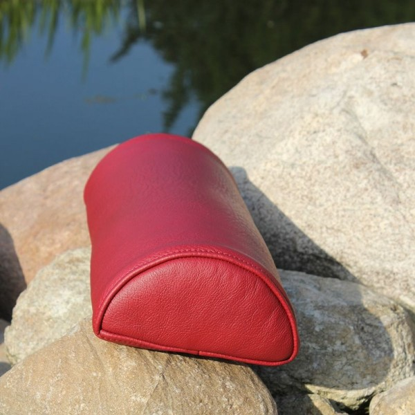 Leather neck roll with foam