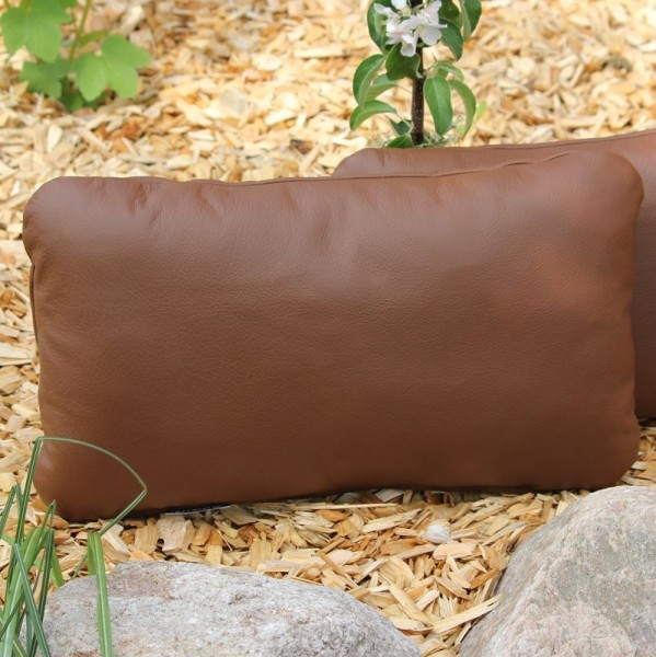 Leather back cushions