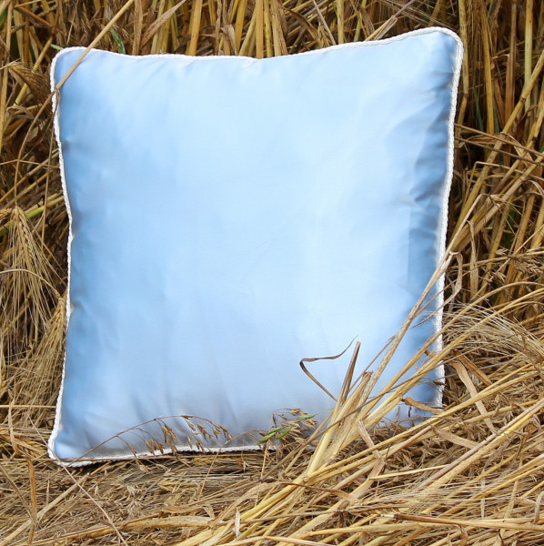 Satin pillow with filling