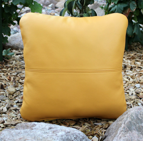 Relaxation cushion leather cushions with filling 40x40 cm
