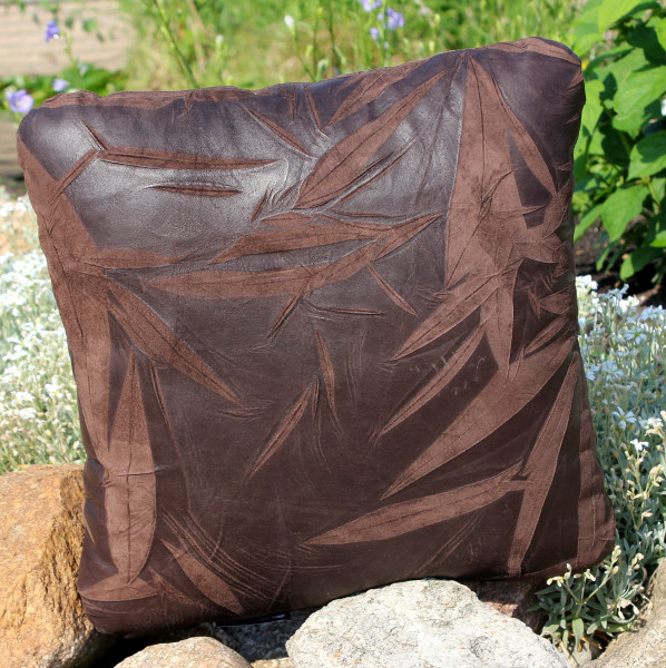 Leather cushion with filling